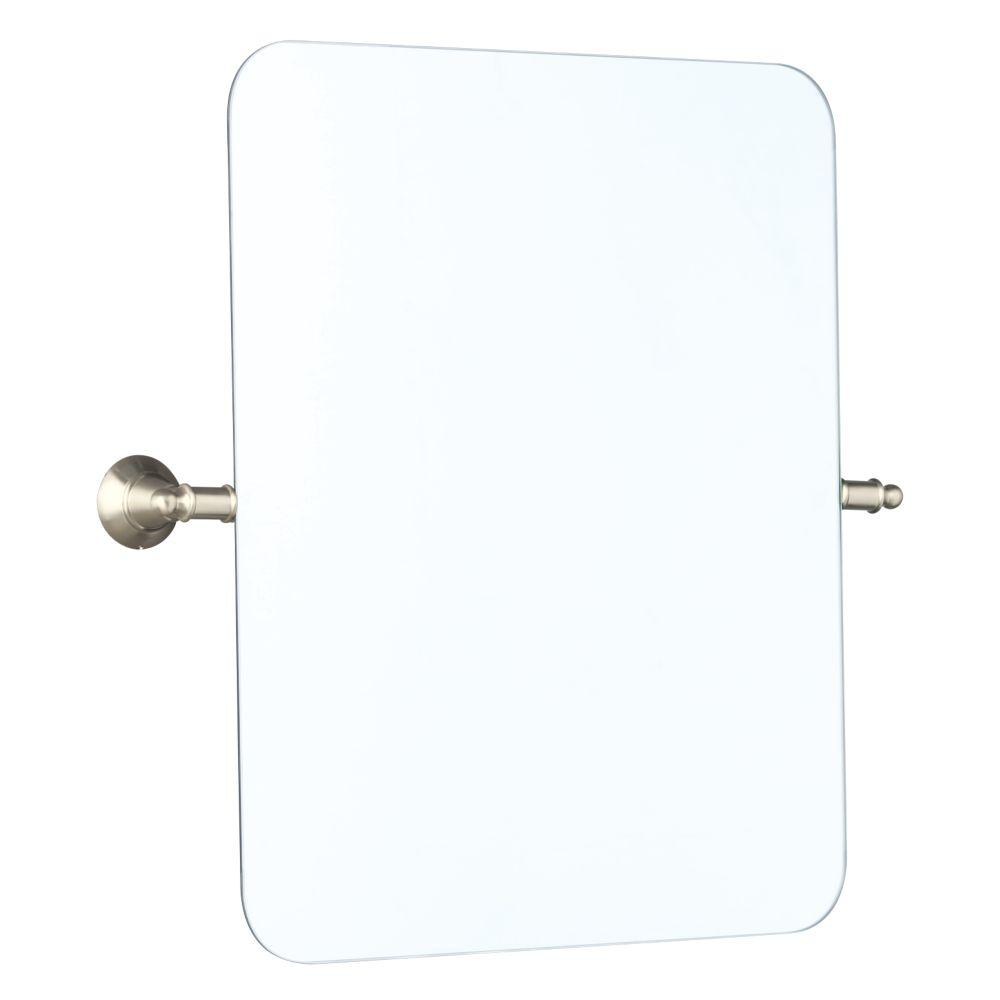 Delta 22 In X 24 In Frameless Tilt Wall Mirror In Brushed Nickel
