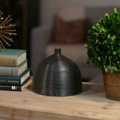 Black Coated Ceramic Decorative Vase