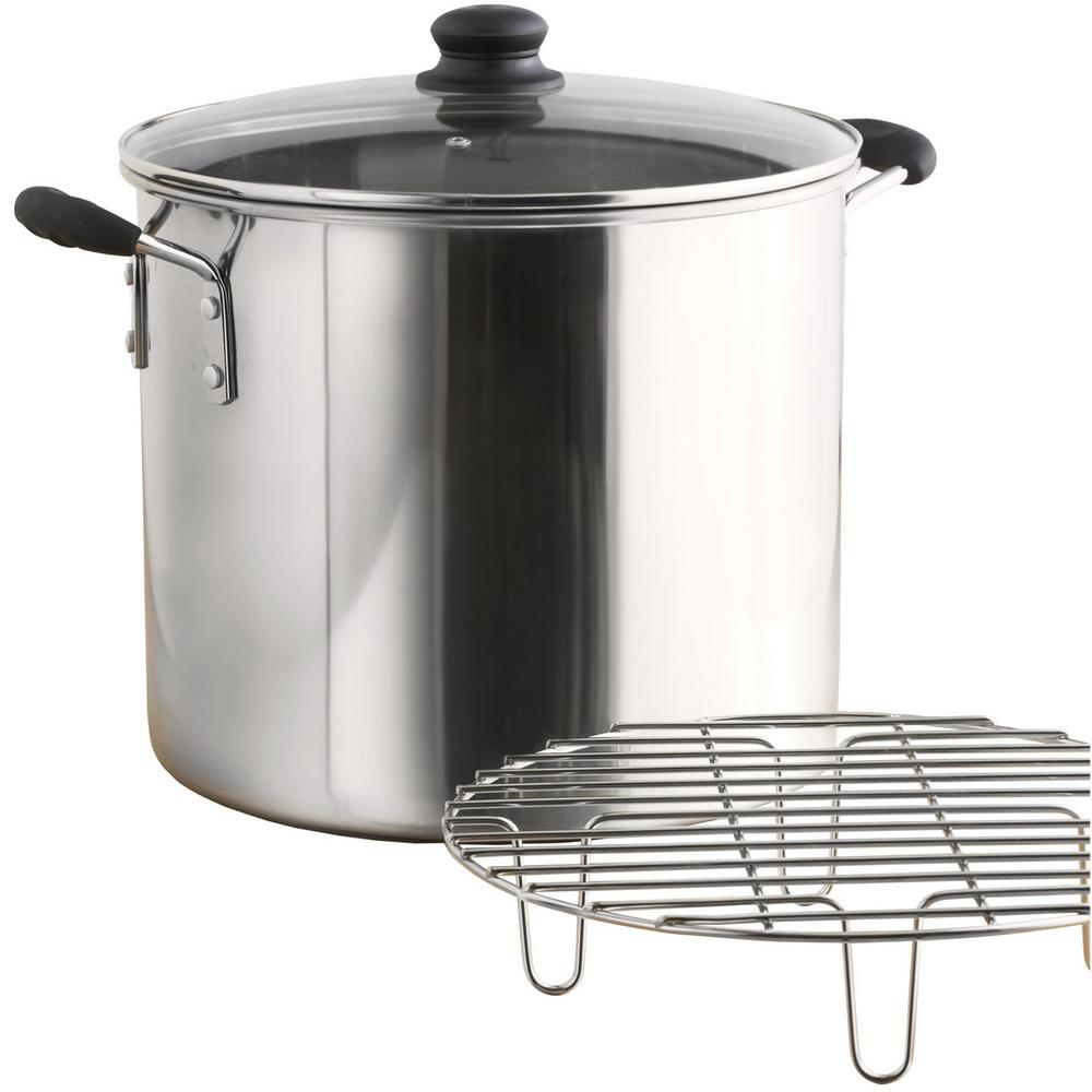 Imusa Mexicana 8 Qt Aluminum Stovetop Steamer With Glass Lid Gka 61014 The Home Depot