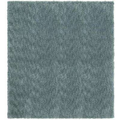 Ethereal Aqua Sea 8 ft. x 8 ft. Square Indoor Area Rug