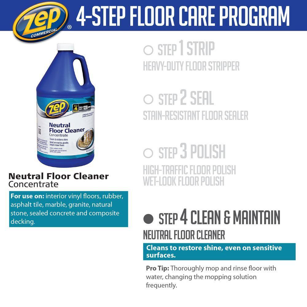 Zep Neutral Floor Cleaner Concentrate 1 Gal Asphalt Tile