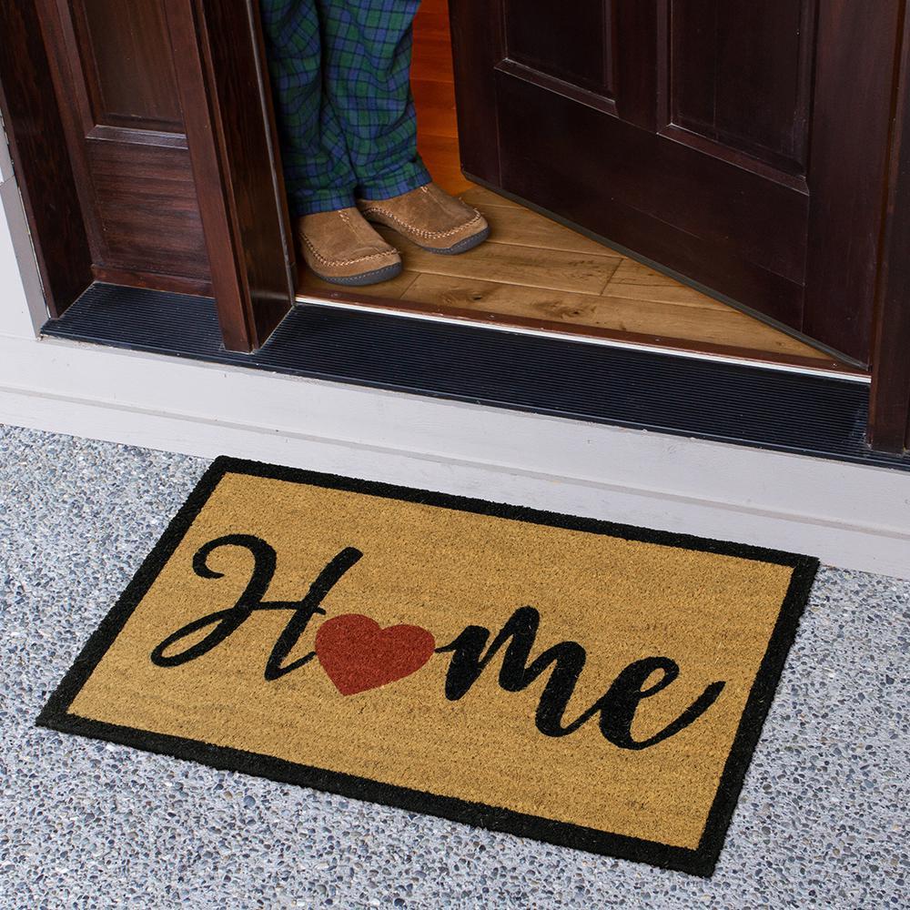 Home Heart Script 18 in. x 30 in. Coir Door Mat