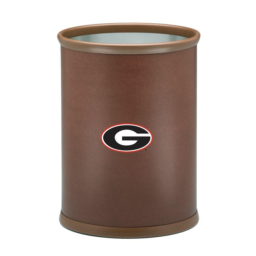 Kraftware 13 in. Georgia Football Texture Trash Can