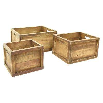 20.5 in. x 15.25 in. Storage Baskets in Brown (Set of 3)