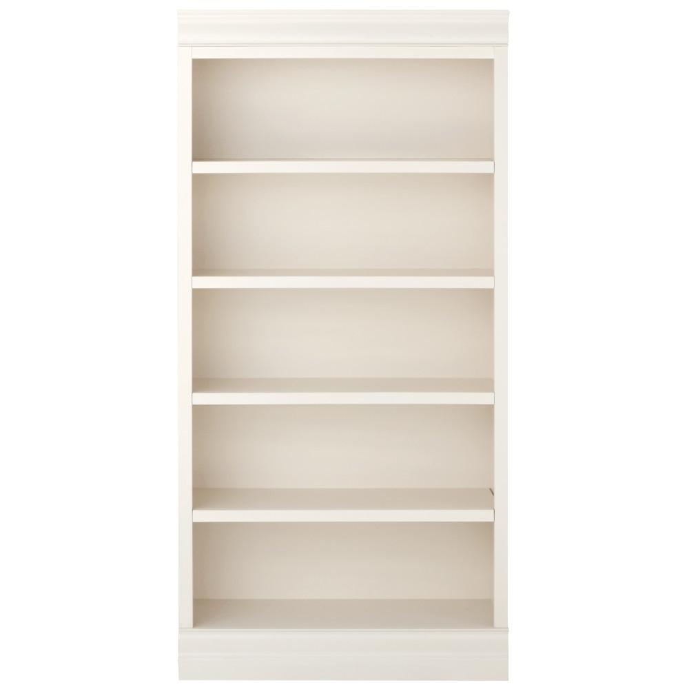Home Decorators Collection Oxford White Glass Door Bookcase 6054850410 The Home Depot