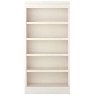Louis Philippe Modular Center Polar White Open Bookcase