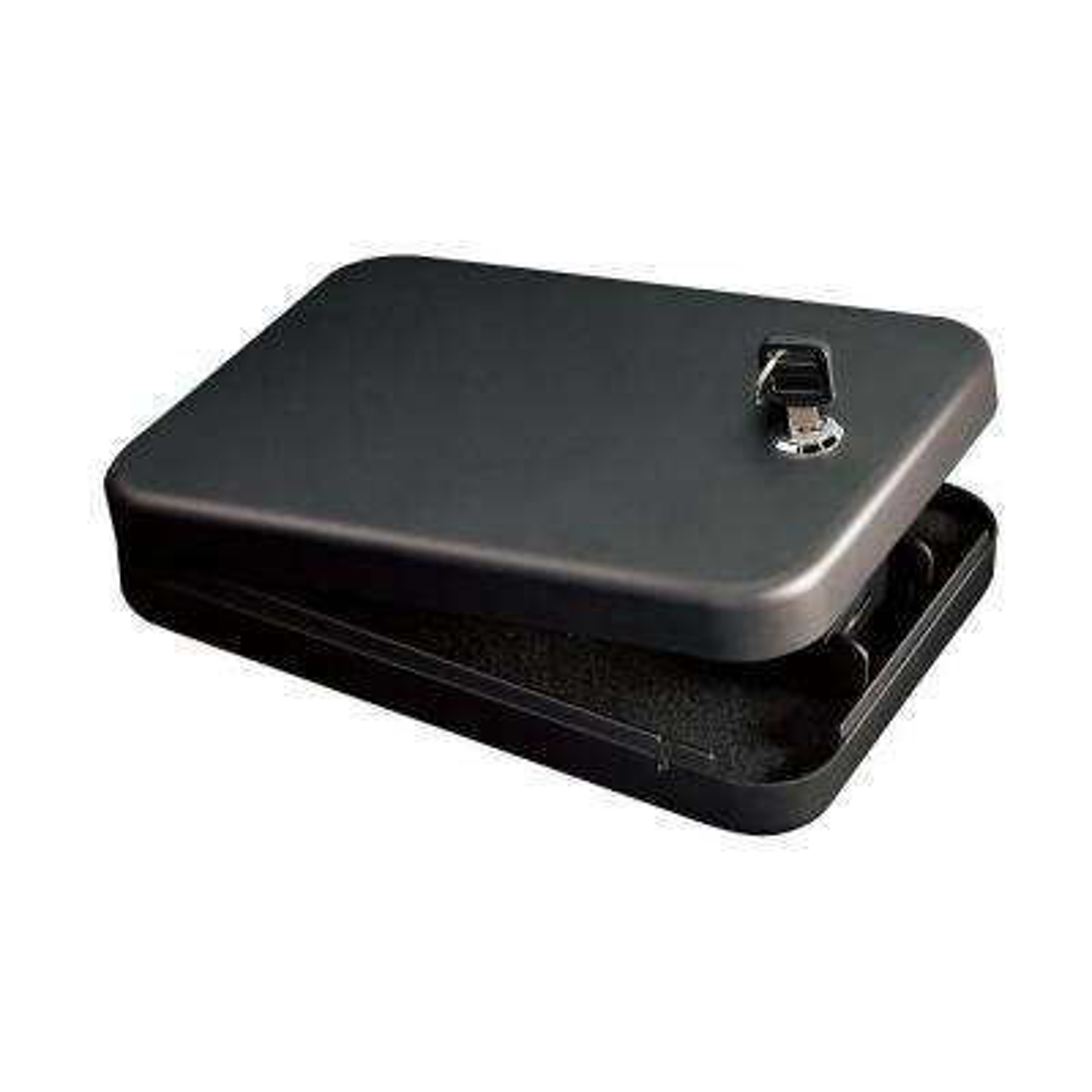 Buddy 1-Gun Key Lock Portable Handgun Safe, Black