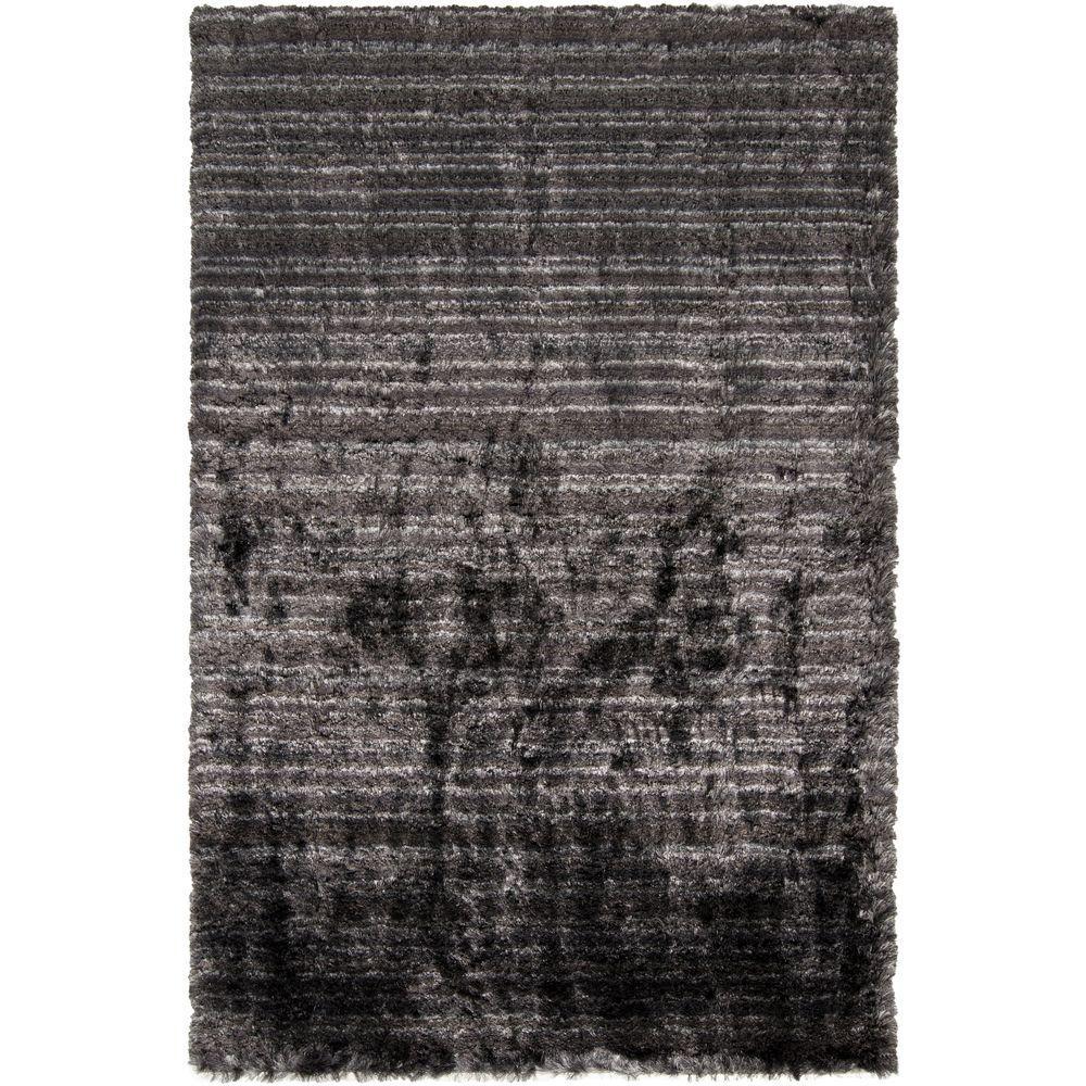 Voni Black 5 ft. x 8 ft. Indoor Area Rug