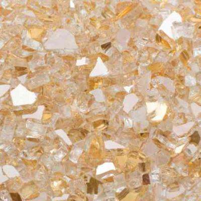 1/2 in. 20 lb. Medium Gold Reflecitive Fire Glass