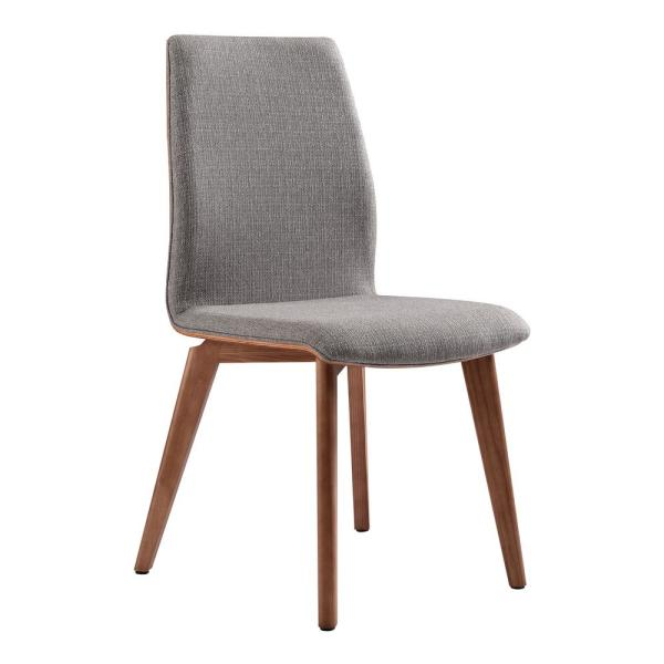 Archie Gray Fabric Dining Chair - Set of 2