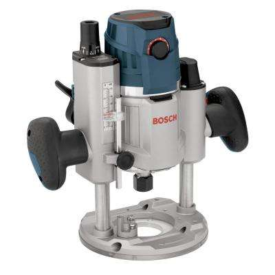 15 Amp Corded Electronic 3-1/2 in. Corded Variable Speed Plunge Router with LED Light