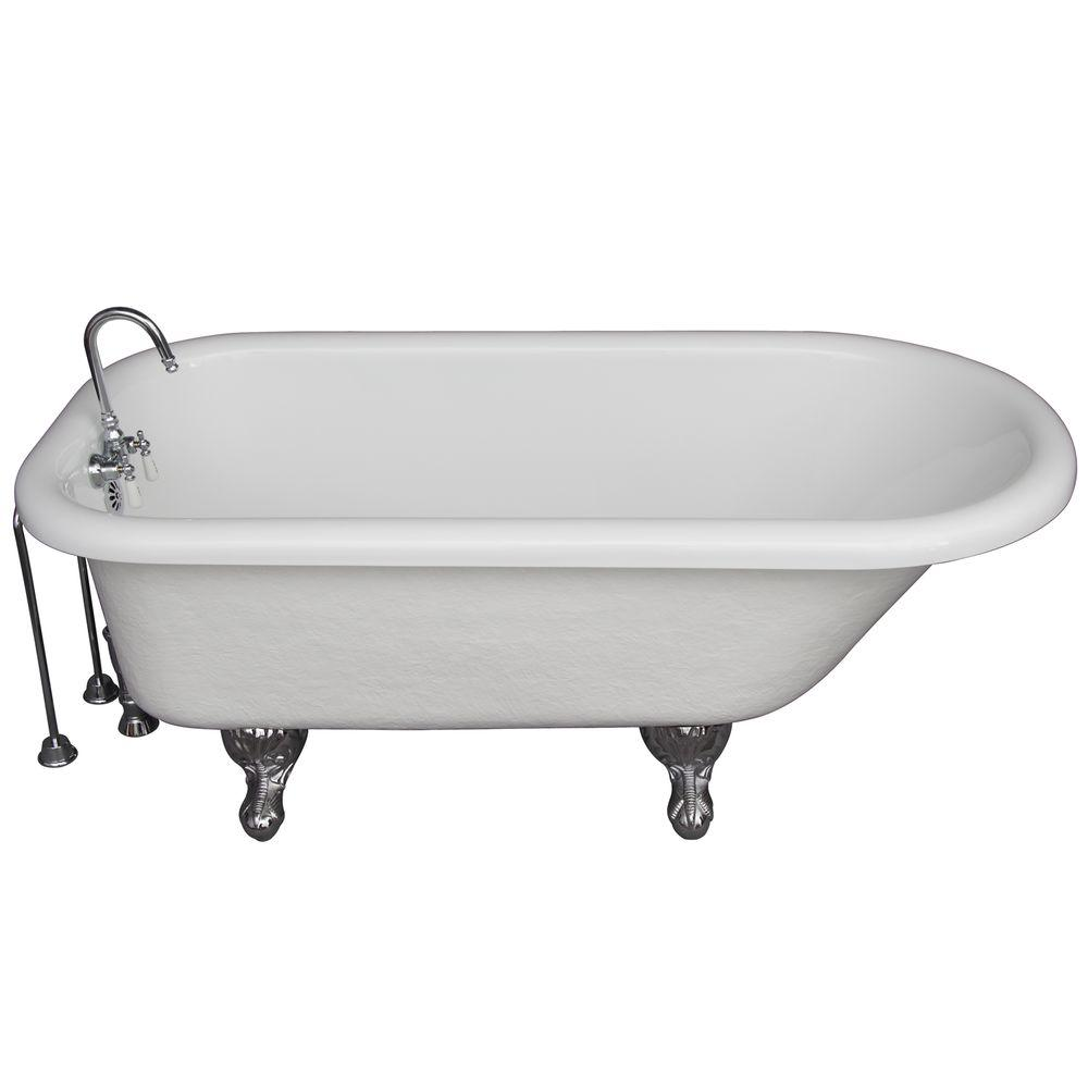 Barclay products 5 6 ft acrylic ball and claw feet roll for 6 ft tub