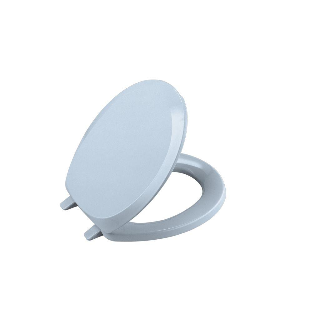 KOHLER French Curve Round Closed-front Toilet Seat in Skylight-DISCONTINUED