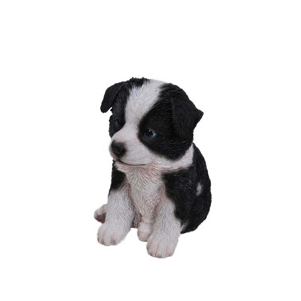 Hi Line Gift Border Collie Puppy Statue 87771 O The Home Depot