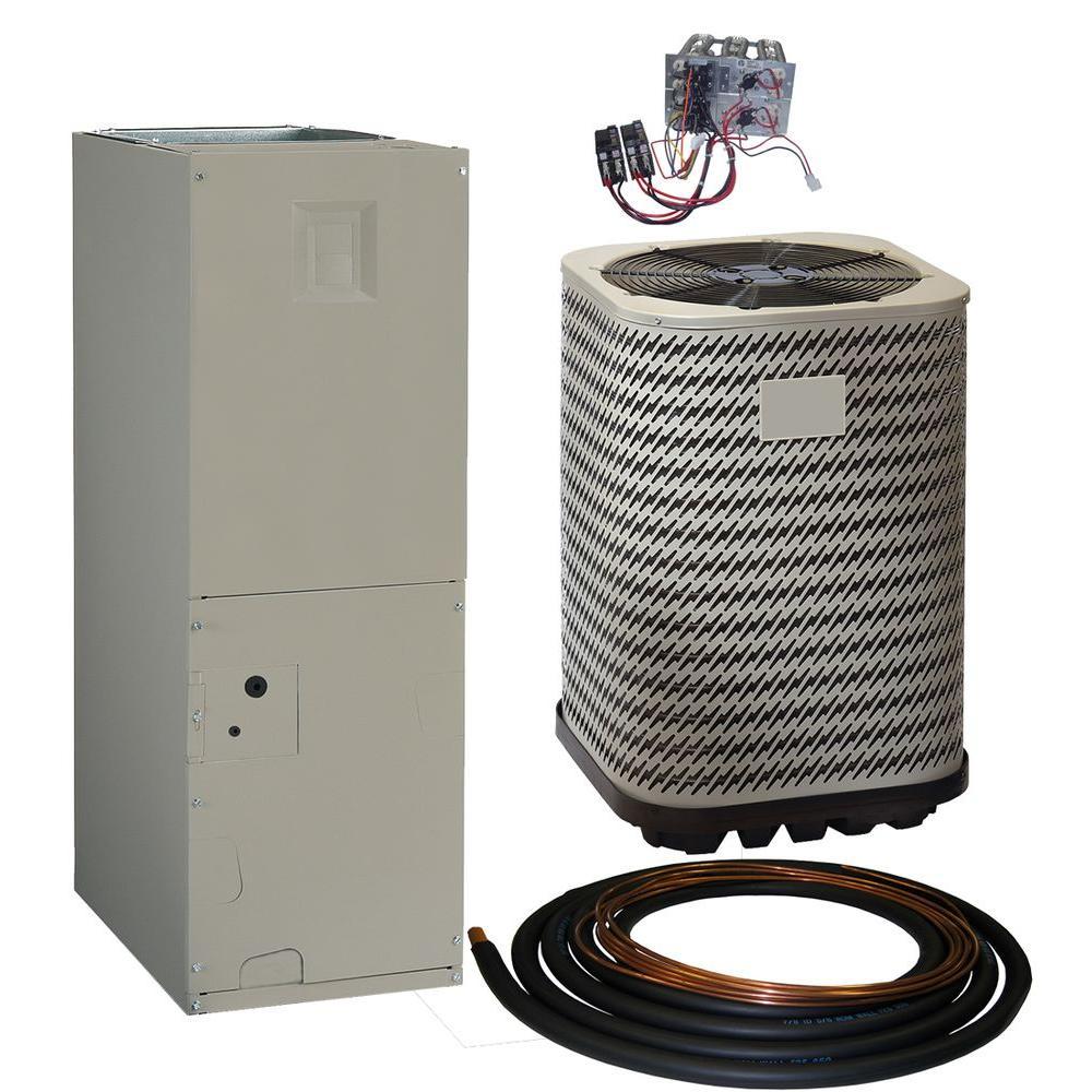 Kelvinator 4 Ton 14 Seer R-410A Split System Package Heat Pump System, Gray