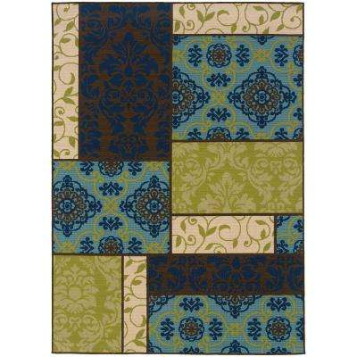 Piccadilly Multi 7 ft. 10 in. x 10 ft. 10 in. Outdoor Area Rug