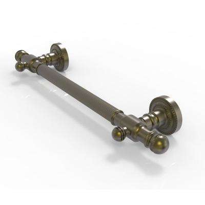 Dottingham Collection 36 in. x 2.375 in. Grab Bar Reeded in Antique Brass
