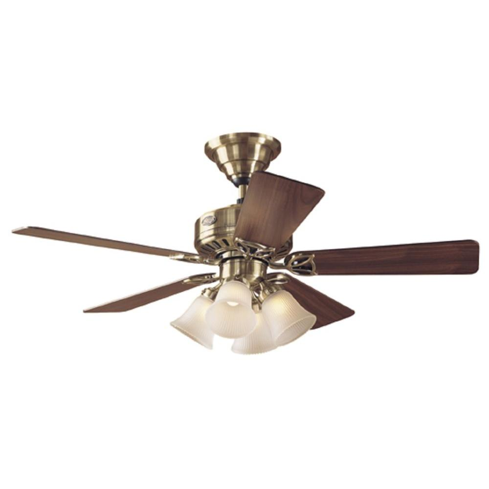 Hunter 44 in. The Continental Antique Brass Ceiling Fan-DISCONTINUED