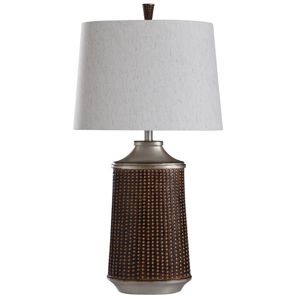 Winthrop 33 in. Winthrop Bronze, Khashi Silver Table Lamp