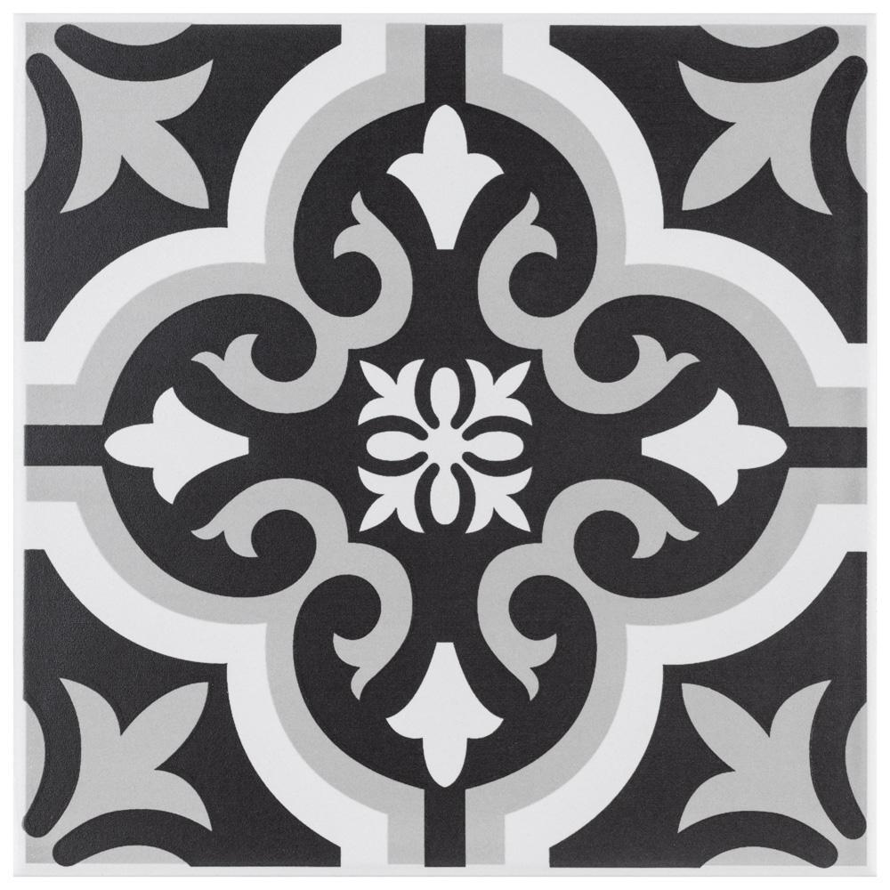 Braga Classic II Encaustic 7-3/4 in. x 7-3/4 in. Ceramic Floor and Wall Tile (10.94 sq. ft. / Case)
