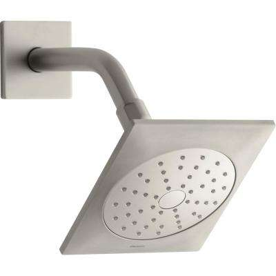 Loure 1-Spray 5.25 in. Showerhead with Katalyst Air Induction Technology in Vibrant Brushed Nickel