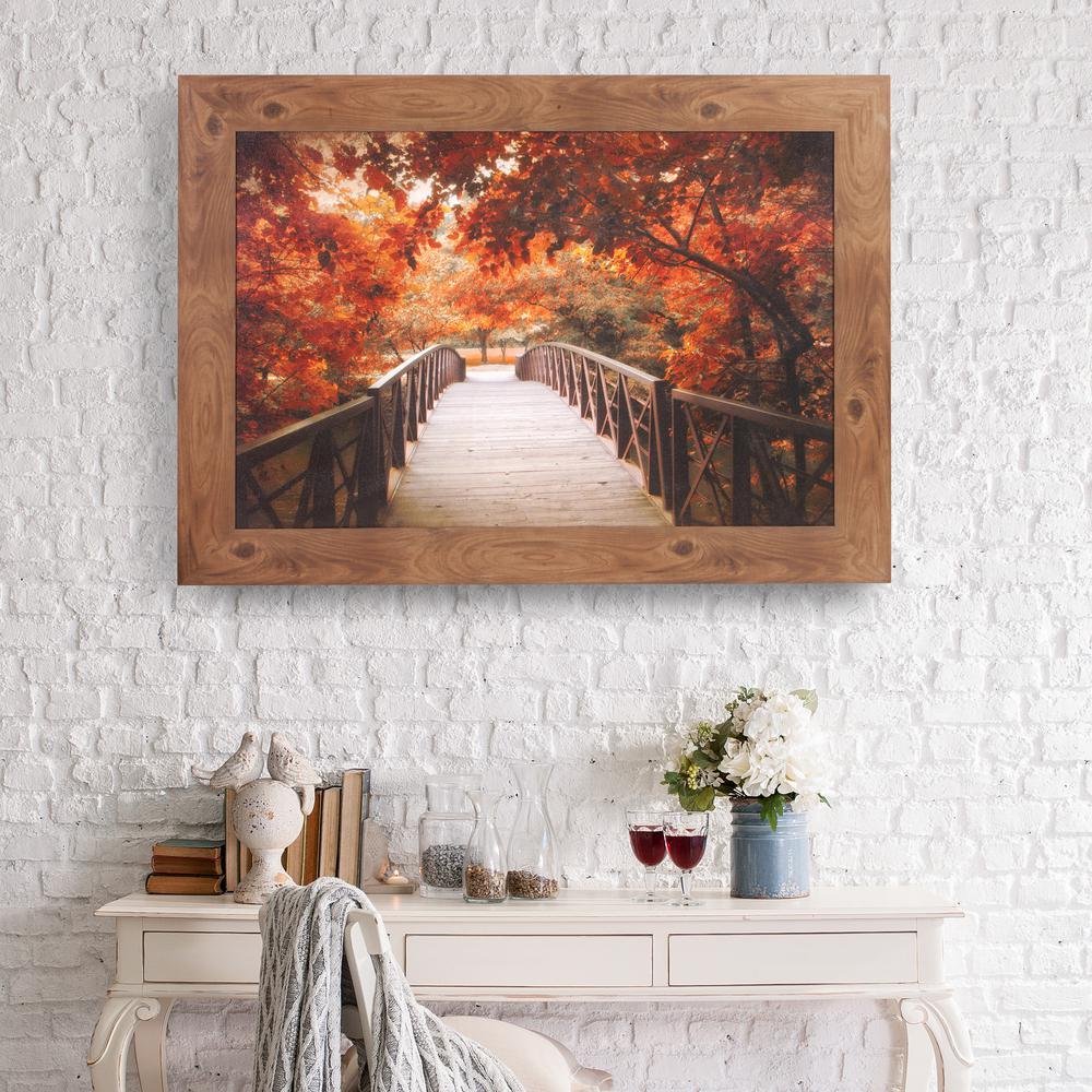 Pinnacle Fall Footbridge Framed Canvas Wall Art