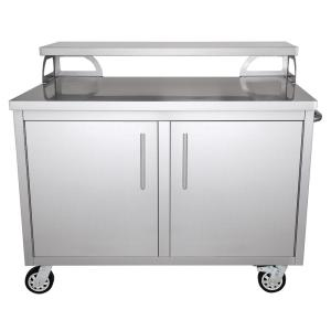 Casa Nico Stainless Steel 48 in. x 43 in. x 30 in. Portable Outdoor Kitchen  Cabinet and Patio Bar-KD01 - The Home Depot