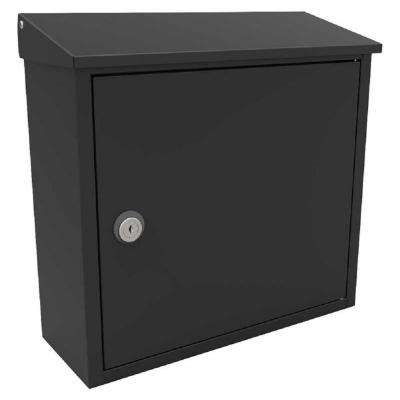 Allux 400 Black Wall Mount Locking Mailbox
