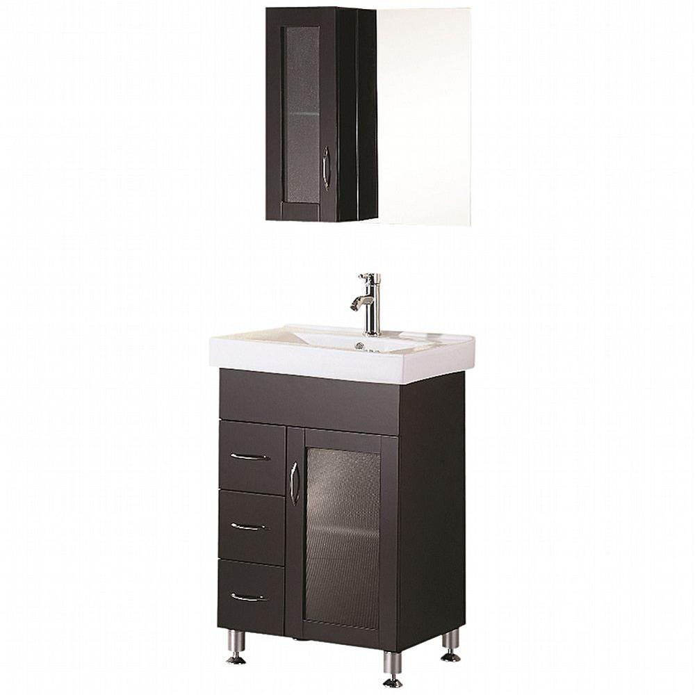 Design Element Oslo 24 In W X 18 D Vanity Espresso With