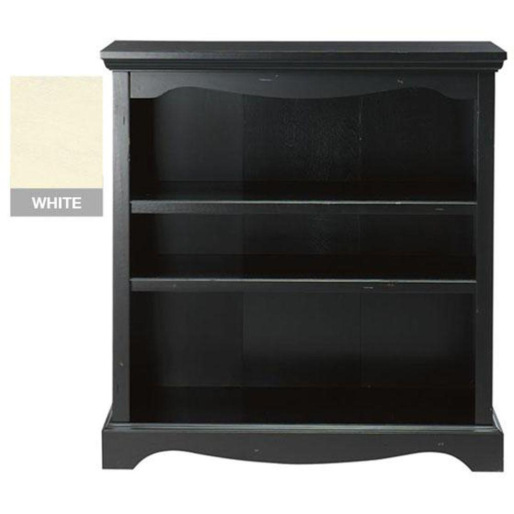 Home Decorators Collection Sheffield 3-Shelf Open Bookcase in Antique White