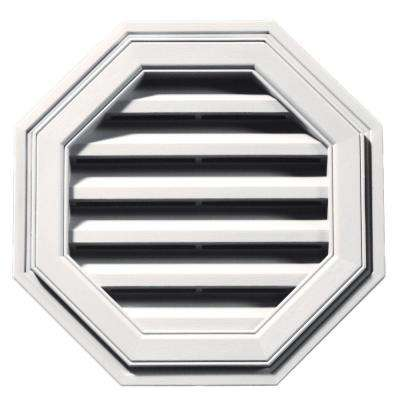 18 in. Octagon Gable Vent in Bright White
