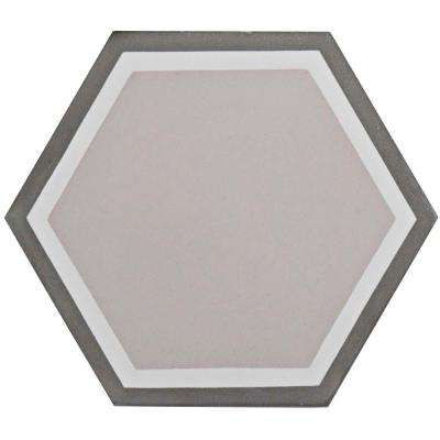 Cemento Hex Holland Channel 7-7/8 in. x 9 in. Cement Handmade Floor and Wall Tile
