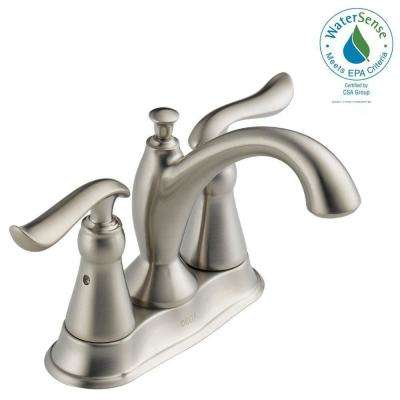 Linden 4 in. Centerset 2-Handle Bathroom Faucet in Stainless