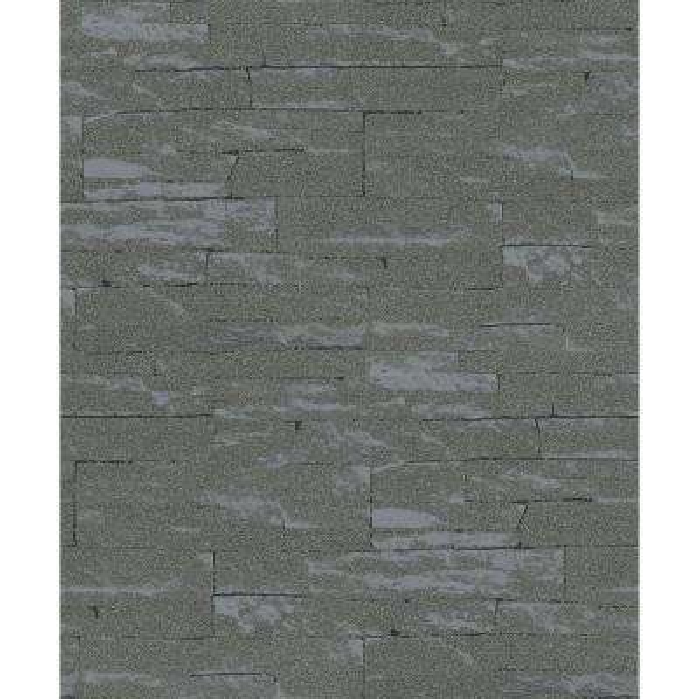 8 in. x 10 in. Rheta Charcoal Stone Wallpaper Sample