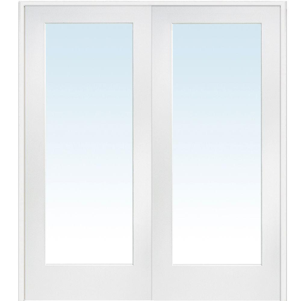 Mmi Door 60 In X 80 In Both Active Primed Composite Clear Glass Full Lite Prehung Interior