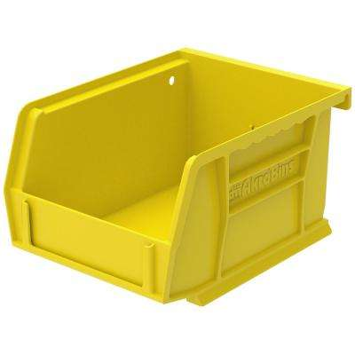 AkroBin 4.1 in. 10 lbs. Storage Tote Bin in Yellow with 0.2 Gal. Storage Capacity