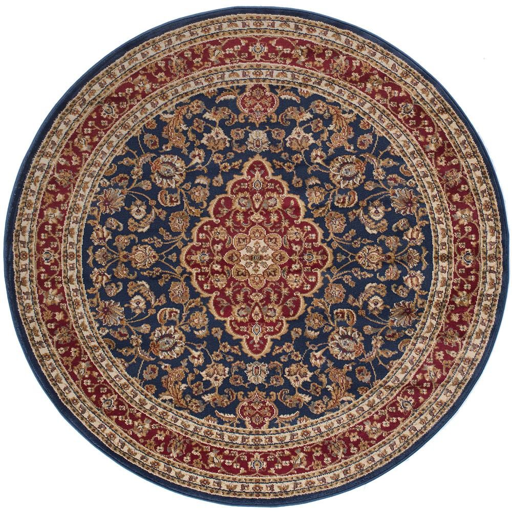 This Review Is From Sensation Navy Blue 5 Ft 3 In Round Traditional Area Rug