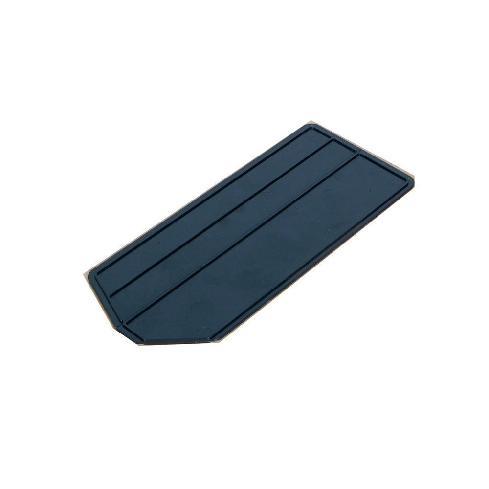 LocBin 7 In. L x 2-5/8 In. W x 1/8 In. H ABS Plastic Black Bin Dividers for 3-220 Bins, 6 Pack