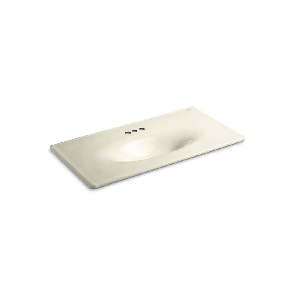 KOHLER 22-1/4 in. Iron/Impressions Vanity Top Bathroom Sink in Cane Sugar