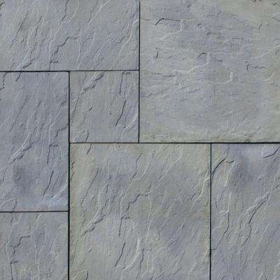 Patio-on-a-Pallet 120 in. x 120 in. Gray Variegated Dutch York-Stone Concrete Paver (Pallet of 44-Pieces)
