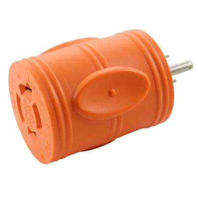 15 Amp Locking Adapter Household Plug NEMA 5-15P to Generator 4-Prong 20 Amp L14-20R with 2-Hots Bridged