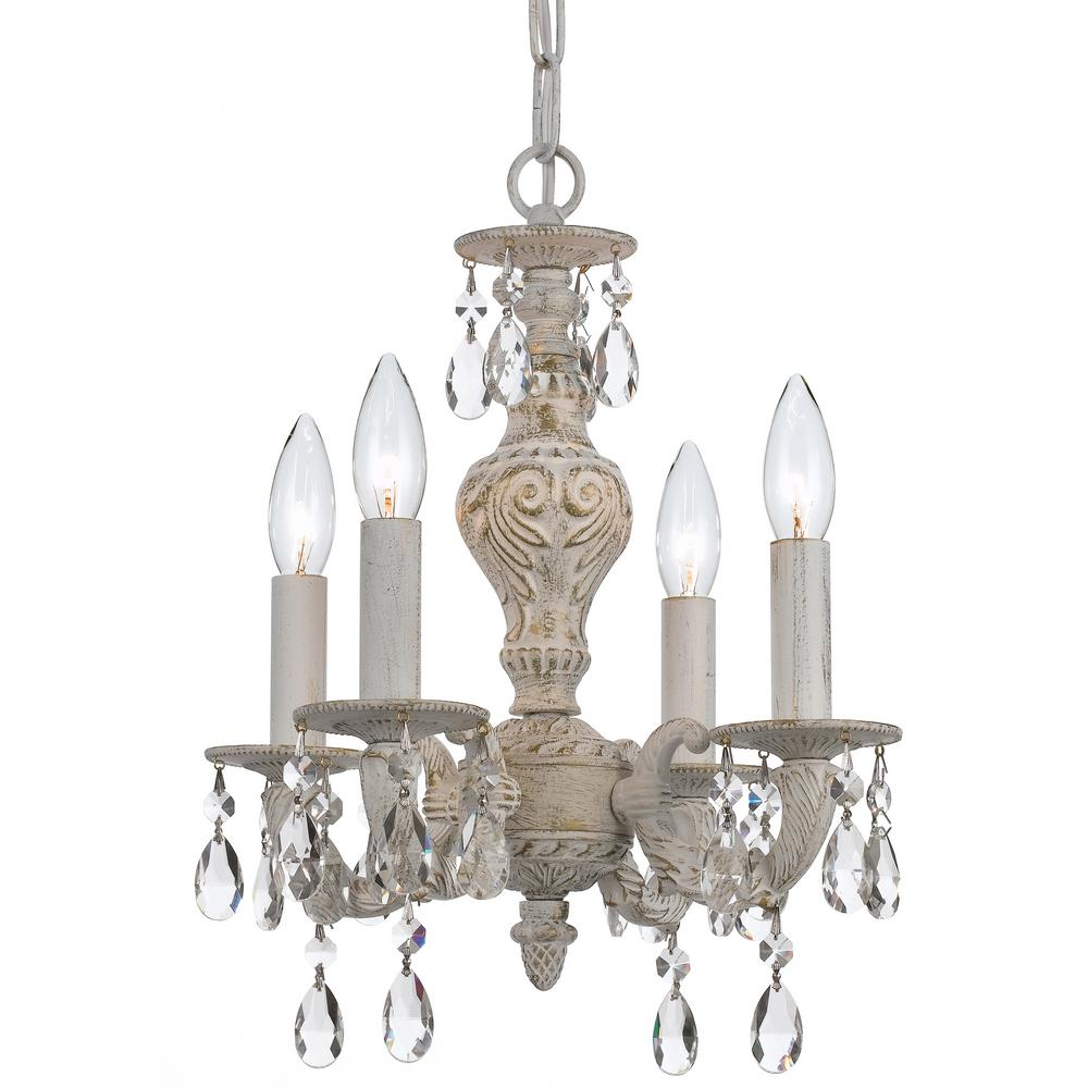 Wet White Crystorama 5201-WW-CLEAR Paris Market Murano Crystal Wall Sconce
