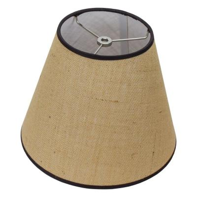 6 in. Top Diameter x 11 in. Bottom Diameter x 9 in. Slant Burlap Natural Empire Lamp Shade