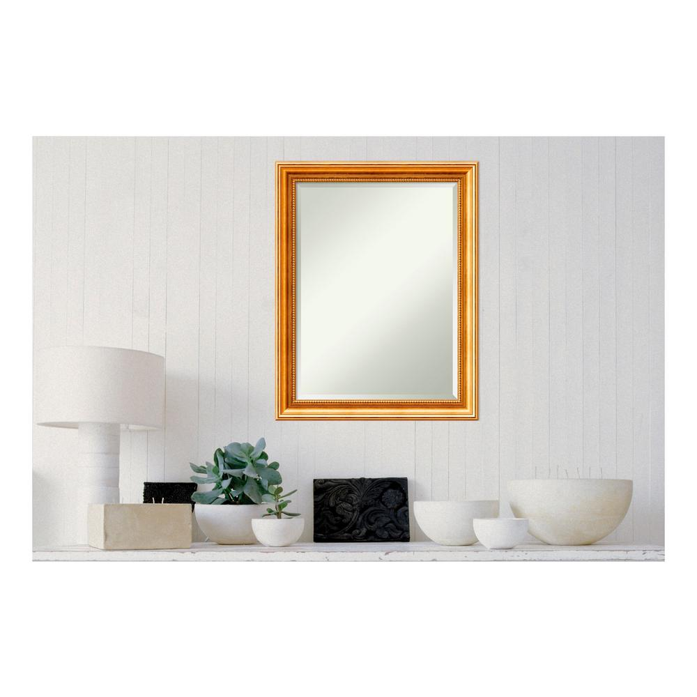 Amanti Art Townhouse Gold Wood 22 in. x 28 in. Traditional Framed ...