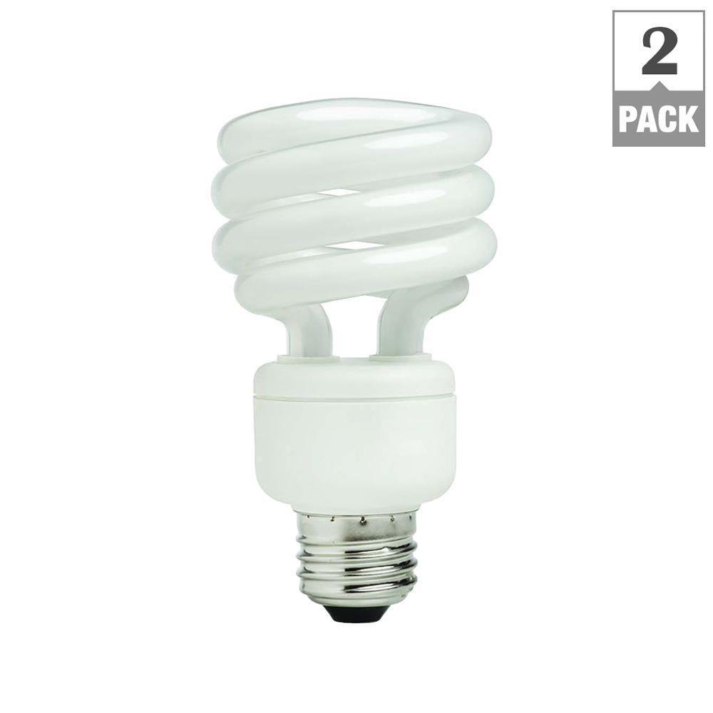 Ecosmart cfl bulbs light bulbs the home depot 75 watt equivalent spiral cfl light bulb daylight 2 pack workwithnaturefo