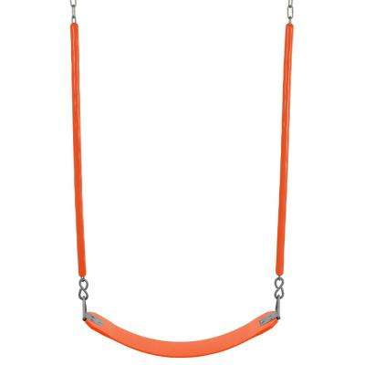 Belt Swing For All Ages Soft Grip Chain Fully Assembled in Orange