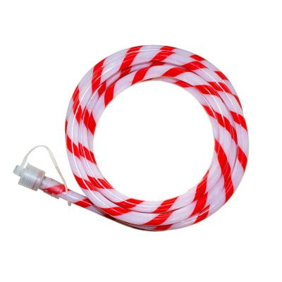 Outdoor/Indoor 16 ft. Line Voltage Soft White Integrated LED Rope Light Flexible Candy Cane Style Holiday Lights