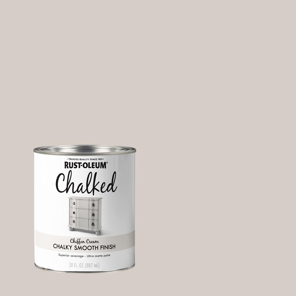 Rust-Oleum 30 oz. Chiffon Cream Ultra Matte Interior Chalked Paint (2-Pack)