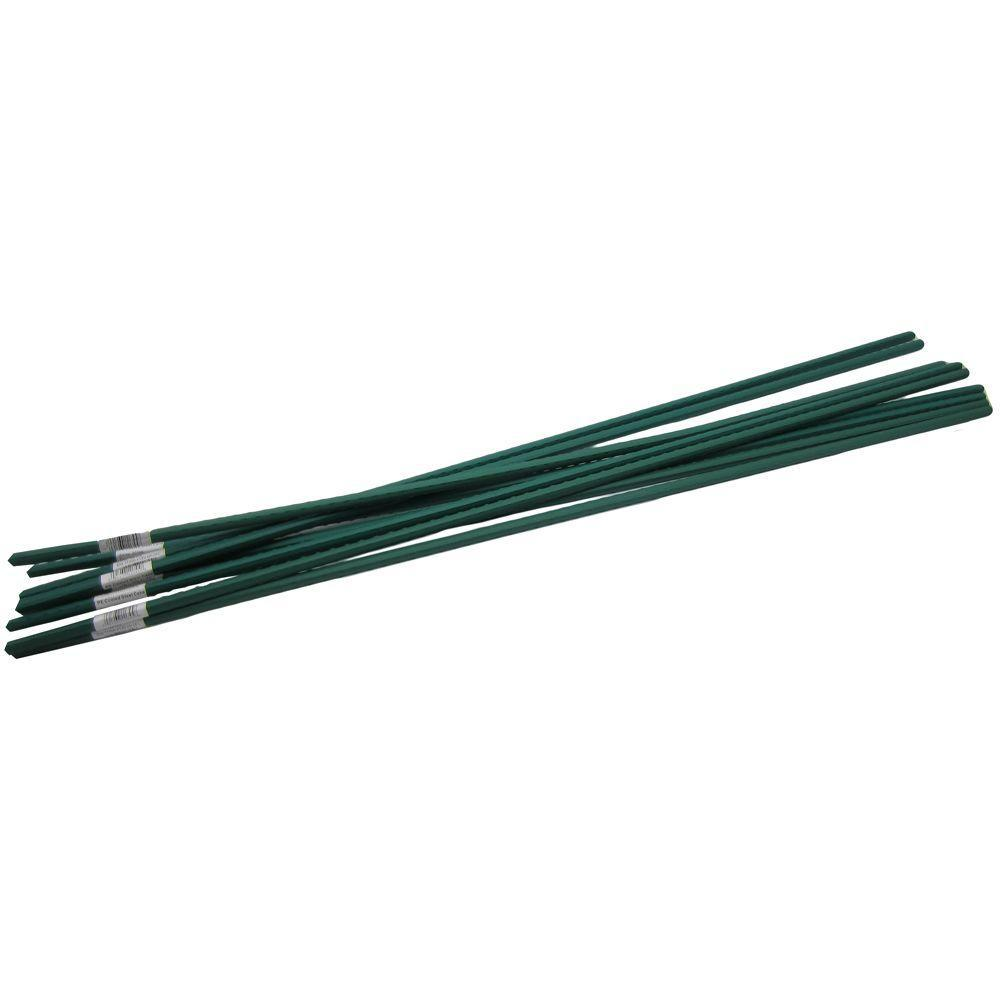 allFENZ 7 ft. Polyethylene Coated Garden Stakes (10-Pack)