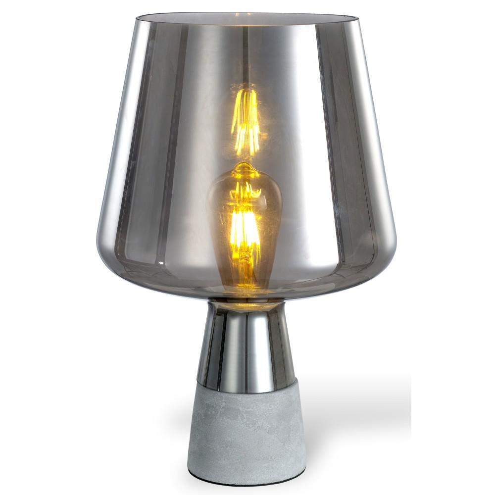 Ledpax Technology Chico 12.5 in. Amber and Grey Table Lamp with Concrete Base